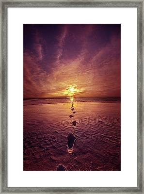 Framed Print featuring the photograph It Is Then That I Carried You by Phil Koch