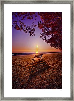 Framed Print featuring the photograph It Is Words With You I Seek by Phil Koch