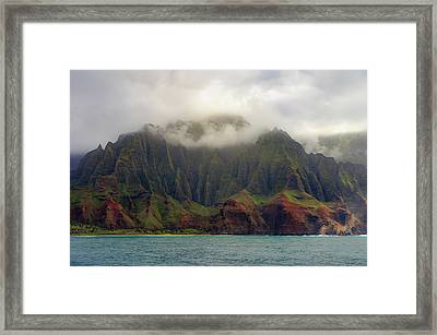It Means, The Cliffs Framed Print by Peter Irwindale