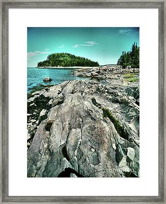 Framed Print featuring the photograph It Rocks  by Aimelle