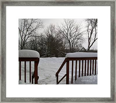 It Snowed Framed Print by Marsha Heiken