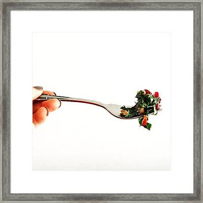 It Starts With This, You Are What You Framed Print