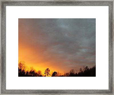 It Was A Dark And Stormy Night... Framed Print by Curt Curt