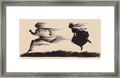 It Was Just As If The Wind Had Whistled Framed Print by Vintage Design Pics