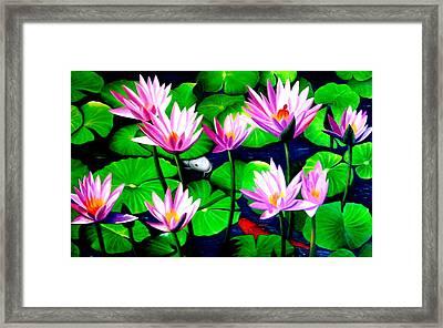 It Was Just Like A Lotus Flower Unfolding  Framed Print by Yuki Othsuka