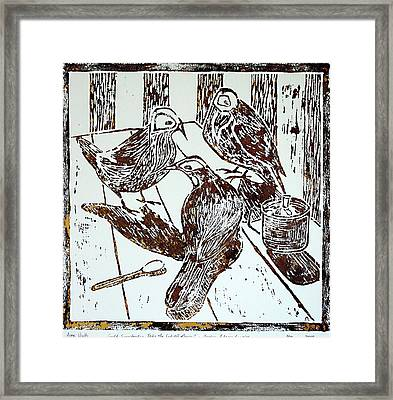 It Wasn't Me Framed Print by Huth Anne