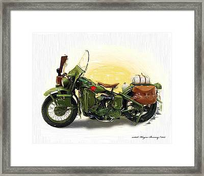 It Won The War Framed Print by Wayne Bonney