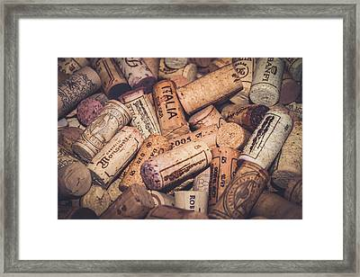 Italia - Corks Framed Print