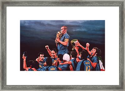 Italia The Blues Framed Print