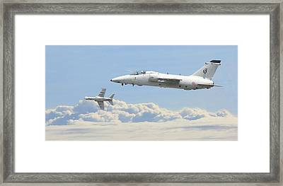 Framed Print featuring the digital art Italian Air Force - Ghibli by Pat Speirs