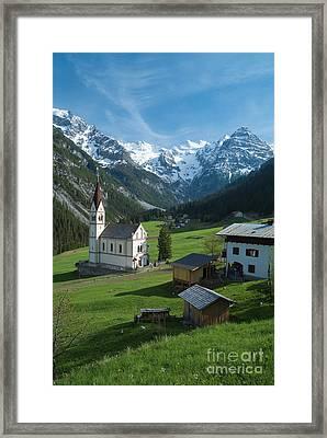 Italian Alps Hidden Treasure Framed Print