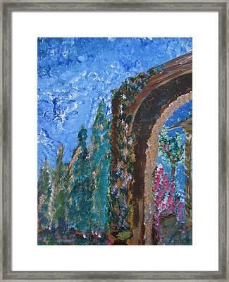 Italian Arch Framed Print by Dennis Poyant