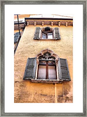 Italian Architecture Framed Print by Greg Sharpe