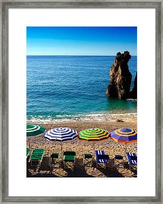 Italian Beach Scene Framed Print