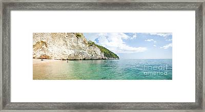 italian beaches - Zagare Bay - Vieste - Gargano - Puglia - panoramic Framed Print