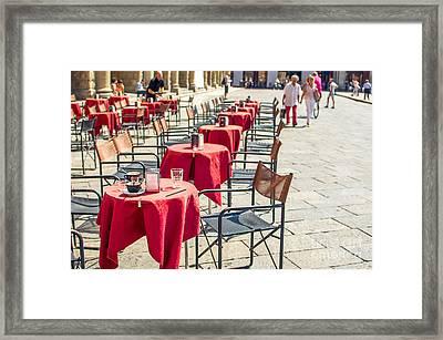 Italian Bistro Canvas - Bologna  Emilia-romagna Prints Framed Print by Luca Lorenzelli