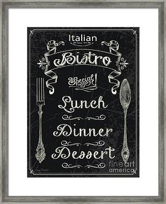 Italian Bistro Menu-jp3044 Framed Print by Jean Plout