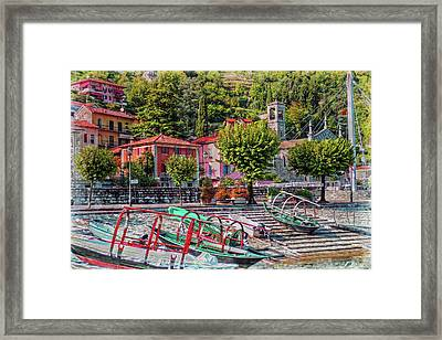 Italian Boat Dock Framed Print