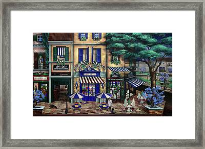 Italian Cafe Framed Print by Curtiss Shaffer