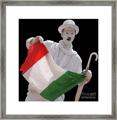 Italian Charlie Chaplin Framed Print