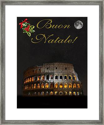 Italian Christmas Card Rome Framed Print
