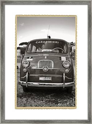 Fiat 600 Italian Classic Car Framed Print