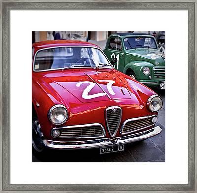 Italian Classics Alfa Romeo Framed Print by Patrick English