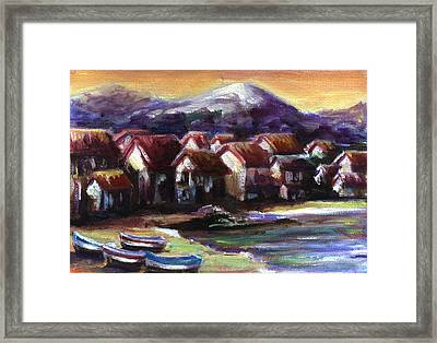Italian Coast Framed Print by Patricia Halstead