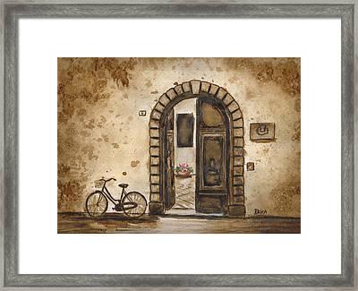 Italian Coffee Break Framed Print by Dianne  Ilka