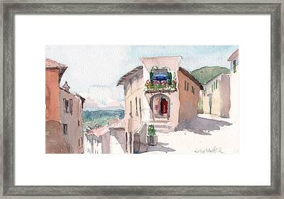Italian Crossroads Framed Print