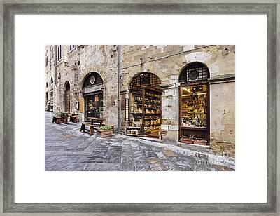 Italian Delicatessen Or Macelleria Framed Print by Jeremy Woodhouse