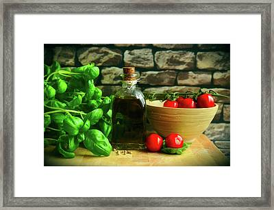 Italian Fixings Framed Print by Congerdesign