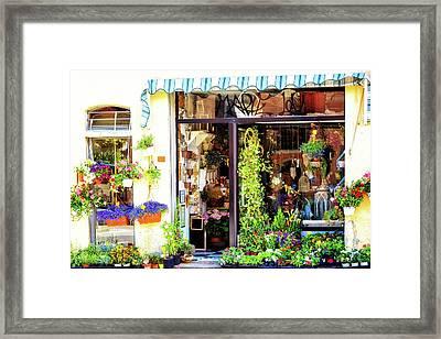 Italian Flower Market Sells Spring Blooms Framed Print