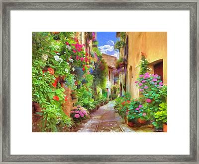 Italian Flowers Framed Print