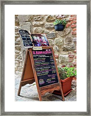 Italian Food Framed Print