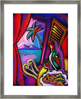 Italian Food Framed Print by Leon Zernitsky