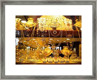 Italian Gold Framed Print by Nancy Ferrier