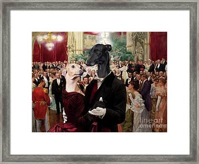 Italian Greyhound Art Canvas Print - Beautiful City Dance Hall Vienna Wilhelm Gause Framed Print