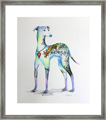 Italian Greyhound Tattoo Dog Framed Print