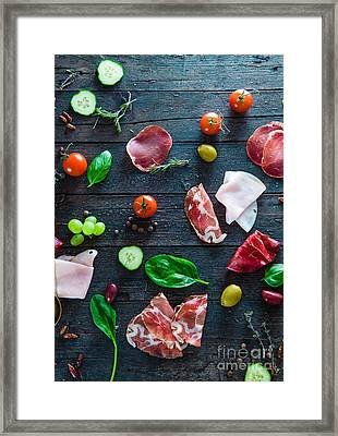 Italian Ham On Wood Framed Print