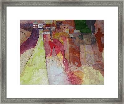 Italian Hill Town Framed Print