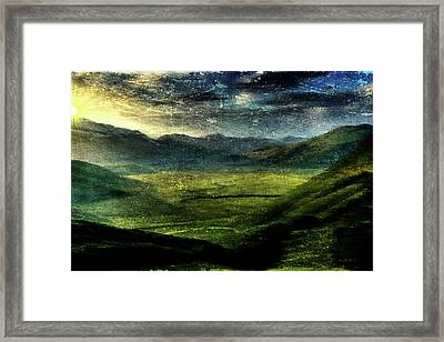Italian Hills Framed Print