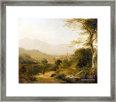 Italian Landscape Framed Print by Joseph William Allen
