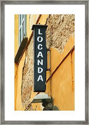 Italian Locanda Framed Print