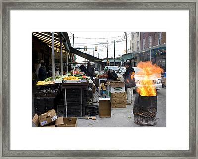 Italian Market Framed Print by David Oakill