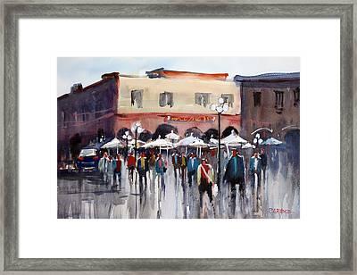 Italian Marketplace Framed Print by Ryan Radke