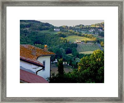 Italian Morn Framed Print by Chuck Shafer