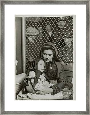 Italian Mother And Child Framed Print