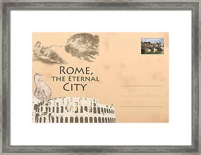 Italian Postcard Framed Print