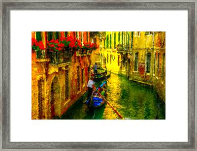 Italian Red Framed Print